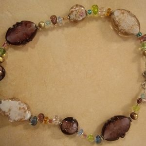 Premier Designs Lamp Work Glass Bead Necklace